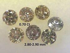 Natural 7 Pcs. Mix Color Round Shape Loose Diamonds 0.70 ct 2.80-2.90 MM VS2