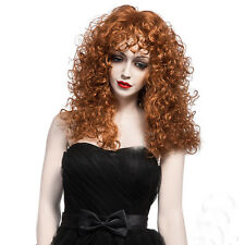 Fashion Women Sexy Light Brown Curly Wavy Long Heat Natural Lady Hair Full Wig #