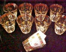 (9) Mcm Georges Briard Persian Garden Old Fashioned Whiskey Rocks Glasses Gold