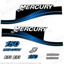Mercury 150hp EFI Saltwater Series Outboard Decal Kit 1999-2004 - Blue