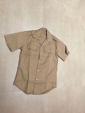 khaki,chino,Short slv, shirt, medium, new old stock, us made,1980,