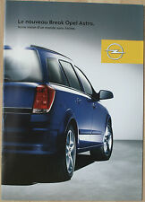 Rare Catalogue Nouveau break Opel Astra - France - 07/2004 - 12p