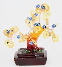 """Feng Shui 4"""" Blue Evil Cat's Eye Money Tree Lucky Tree Gift Home Decor Us Seller"""