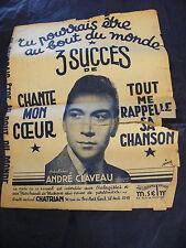 Partition Tu pourrais être au bout du monde Chante mon coeur Claveau 1942
