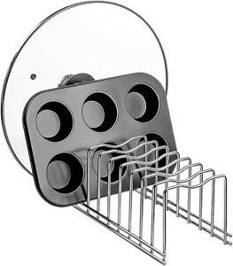 Lid Holder Kitchen Pot Lid Rack Holder Organizer Kitchen Dish Plate Storage Orga
