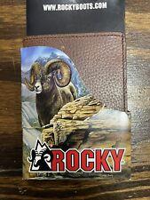 Rocky Brown Outdoor Bifold Wallet Pebble Grain Leather -RBW124
