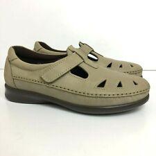 SAS Roamer Women's Sz 7 WW Extra Wide Mary Jane Flats Leather Comfort Shoes Sage