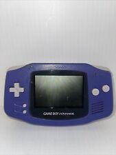 Game Boy Advance Gba Purple Indigo Grape Authentic Agb-001 System Tested Working