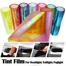 """Chameleon Neo Orange Color 12""""x48"""" Headlight Taillight Fog Light Vinyl Tint Film"""