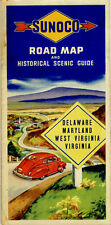 1946 DE/MD/WV/VA Road Map from the Sun Oil Co. (SUNOCO)