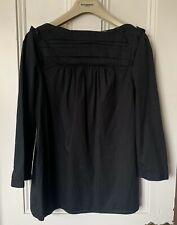 Burberry stunning black long sleeved blouse / top size 6-10