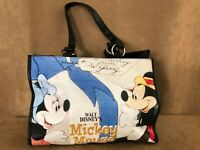 Walt Disney Tote bag black Mickey & Minnie Mouse shopping bounding purse