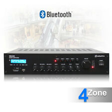 "5 Channel 100v Line 4 Zone Mixer Amplifier Bluetooth 19"" Background Music System"