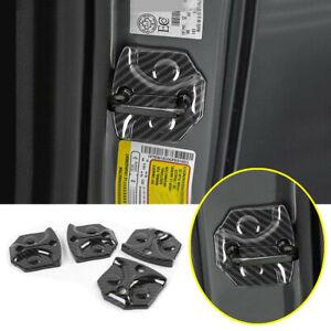For 2021-2022 Ford F150 F-150 Carbon Fiber Interior Door Lock Cover Buckle Trim