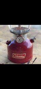 Vintage 1965 June Coleman Lantern Red Model 200A Mint Pyrex Original 6/65 Great