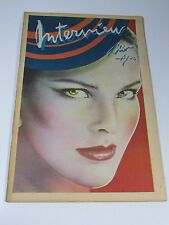 Interview magazine-1978 Carole Bouquet -Andy Warhol-AMAZING CONDITION! Fashion