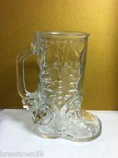 Plain glass boot drink beer cocktail mug mugs cowboy boot labeled Canada  27 QC6