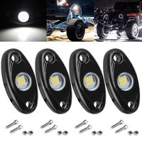 White 4 Pods LED Rock Lights For JEEP Offroad Car Truck ATV Boat Underbody Light