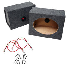 "Car Audio Universal Wedge 6"" X 9"" Sealed Speaker Enclosure Boxes Truck 6X9 Pair"