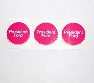 1976 GERALD FORD STICKERS campaign political pin button presidential election