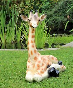 Garden Ornament Giraffe Baby Home Furnishings Decor Outdoor Indoor 60cm