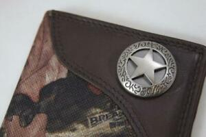 ZEP-PRO TEXAS WESTERN STAR Leather & Nylon MOSSY OAK Camo WALLET TIN GIFT BOX