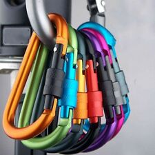 5x Stainless Camp Sports Caribiner Clasp D-Ring Clip Snap Hook Keychain Backpack