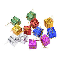 24X Colorful XMAS Small Gift Boxes Christmas Tree Hanging Decoration Ornaments *