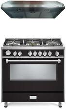 """Verona Designer Series Vdfsgg365E 36"""" All Gas Range Oven With Hood Matte Black"""