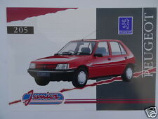 Peugeot 205 Junior LIMITED EDITION brochure 1992. 1.1 and 1.7D models