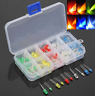 150pcs 3/5mm LED Light White Red Green Yellow Assorted Emitting Diode DIY Set