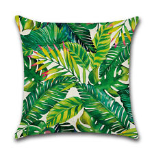 Africa Tropical Plant Print Cushion Cover Green Leaves Pillow Case Decoration 7#