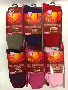 1/3/6 Pairs Ladies Warm Thermal Socks 2.3 Tog Outdoor Heat Insulators Walking