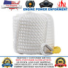 38 X 100 Ft Twisted Three Strand Braid Polyester Anchor Rope Dock Line White