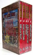 Louis L'Amour 5 Book Box Set: Mistakes,Battle Flat, Glory Riders, Desert, Home