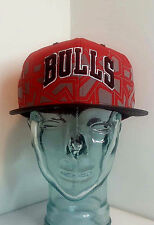 Mitchell & Ness NBA Snapback Chicago Bulls Hat - VN57Z - Red Black Gray & White
