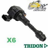 TRIDON IGNITION COIL x6 FOR Nissan Pathfinder R51 07/05-01/10, V6, 4.0L VQ40