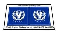 LEGO® Custom Precut Sticker for Classic Town set 106 - Unicef Van (1985)