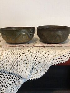 Vintage Chinese Brass Bowls