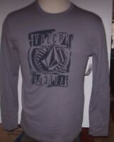 NEW Volcom thermal long sleeve shirt gray black sz Medium or Large or XL