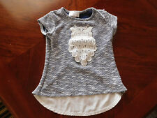 T-Shirt Owl Size 5/6 Pony Tail Toddler Very Cute