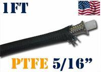 """5/16"""" 8MM NYLON STAINLESS STEEL PTFE  ETHANOL E85 FUEL HOSE LINE 1FT"""