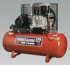 Sealey Tools SAC62710B Air Compressor 270 Litre 10hp 3 Phase 415v Belt Drive