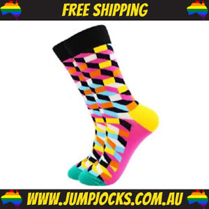 Clown Dress Socks - Business, Novelty, Colourful **FREE SHIPPING**