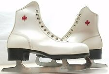 Womens Size 9 Royal Canadian Ice Skates Ice blades Vintage White Figure Skates