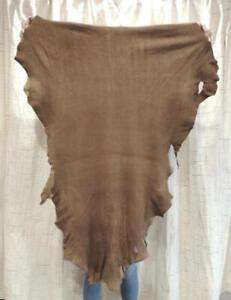 SADDLE DEERSKIN Leather Hide for Regalia Native Crafts Pipe Bags Fringe Buckskin