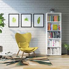 Étagère Bibliothèque Étagère debout Classeur livres Cabinet 190cm Blanc
