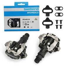 Shimano PD-M520 MTB Mountain Bike Clipless Pedals with SPD Compatible Cleats