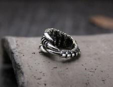 B25 Ring Klaue Kralle Sterling Silber 925 größenverstellbar