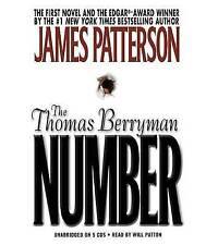 "JAMES PATTERSON""The Thomas Berryman Number""Reader WILL PATTON-UNAB.6 x CD 6.5 hr"